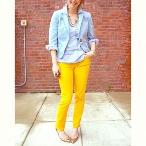 J. Crew | Toothpick Ankle Jeans In Yellow | 29